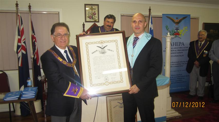 Presentation of Charter by National President